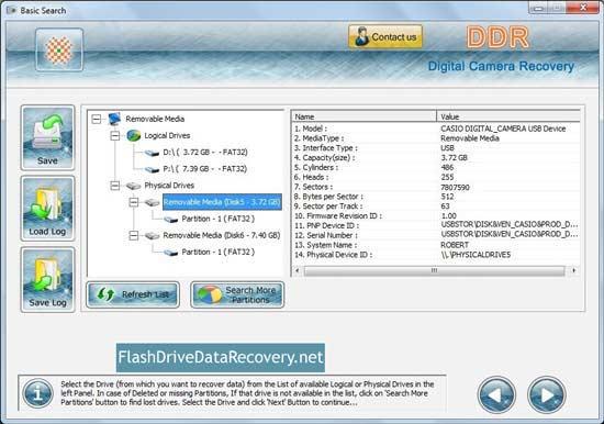 Screenshot of Digital Camera Photo Recovery